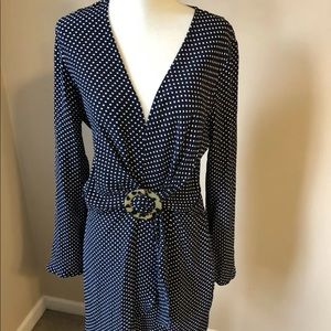 NWT Topshop dress size 4 polka dot V-Neck